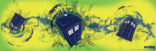 "Doctor Who: The TARDIS Slim Style Art Poster - 36"" x 11.75"