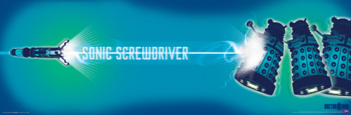"""Doctor Who: Sonic Screwdriver & Daleks Poster 36"""" x 11.75"""""""