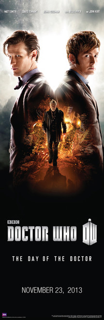 "Doctor Who: DAY OF THE DOCTOR Slim Style Poster - 11.75"" X 36"""