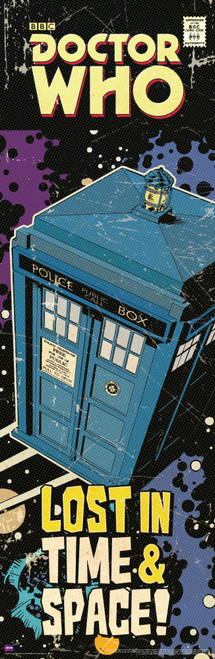 "Doctor Who: TARDIS Comic Art Cover Slim Style Door Poster - 11.75"" x 36"""