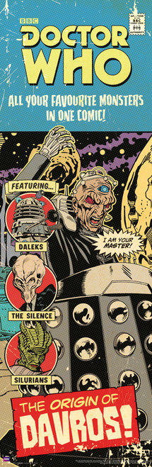 "Doctor Who: ORIGIN OF DAVROS Comic Art Cover Slim Style Door Poster - 11.75"" X 36"