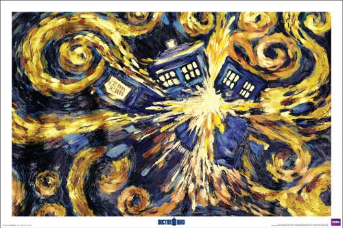 "Doctor Who: VAN GOGH EXPLODING TARDIS Poster - 36"" X 24"""