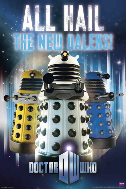 "Doctor Who: ALL HAIL THE NEW DALEKS Poster - 24"" X 36"""