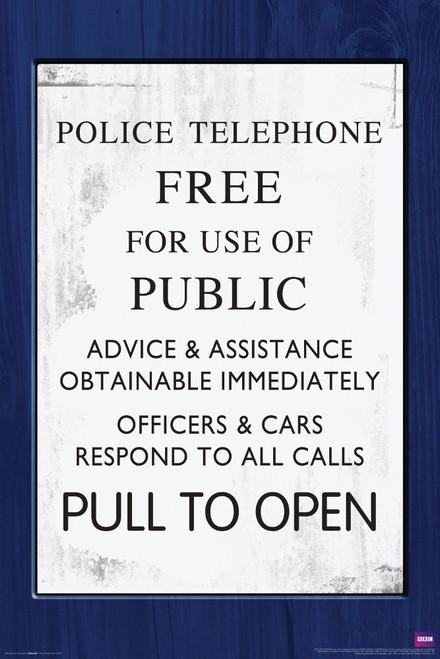 """TARDIS Door Sign Poster 24"""" X 36"""""""
