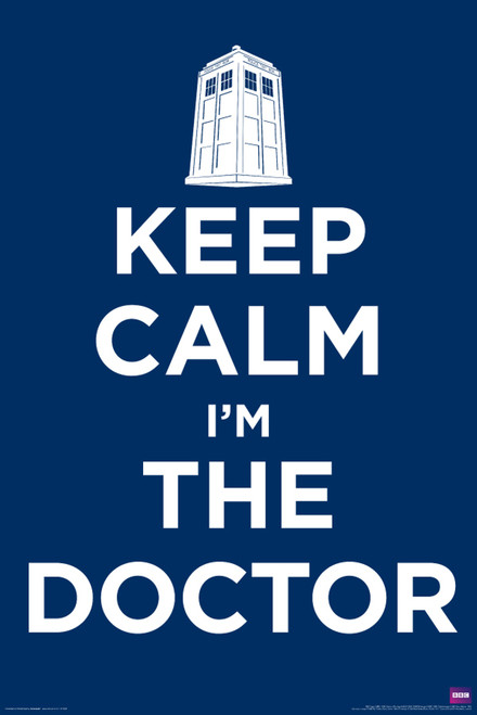 """Doctor Who: KEEP CALM I'M THE DOCTOR Poster - 24"""" X 36"""""""