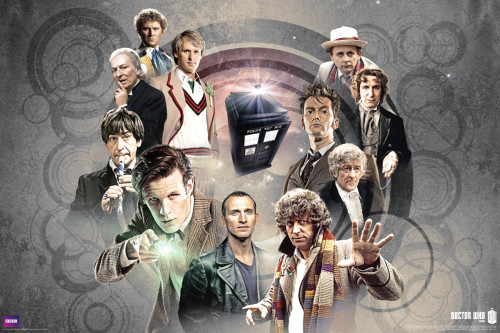 """Doctor Who: Doctors Collage Poster - 36"""" X 24"""""""