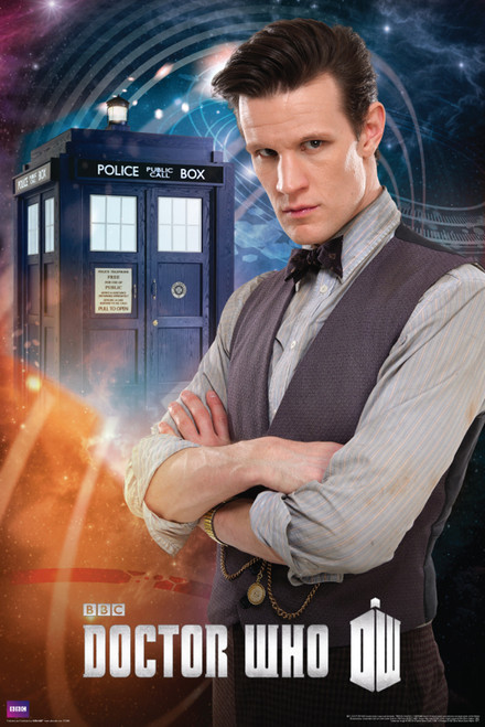 "Doctor Who: 11th Doctor (Matt Smith) Poster - 24"" X 36"""
