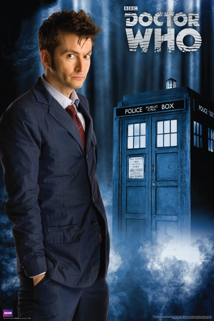 "Doctor Who: 10th Doctor (David Tennant) Poster - 24"" X 36"""