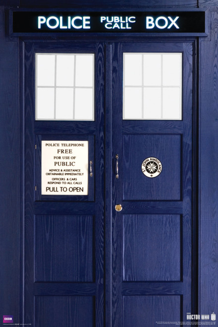 "Doctor Who: 11th Doctor (Matt Smith) TARDIS Poster - 24"" X 36"""