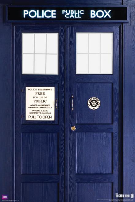 "Doctor Who: 11th Doctor (Matt Smith) TARDIS Poster - 24"" X 36"""