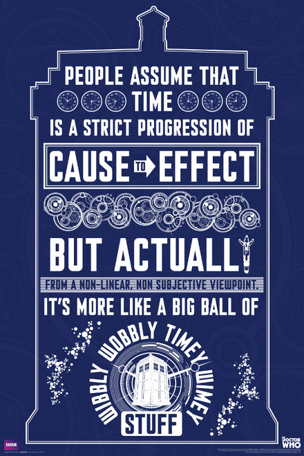 """Wibbly Wobbly Quote Poster 24"""" X 36"""""""