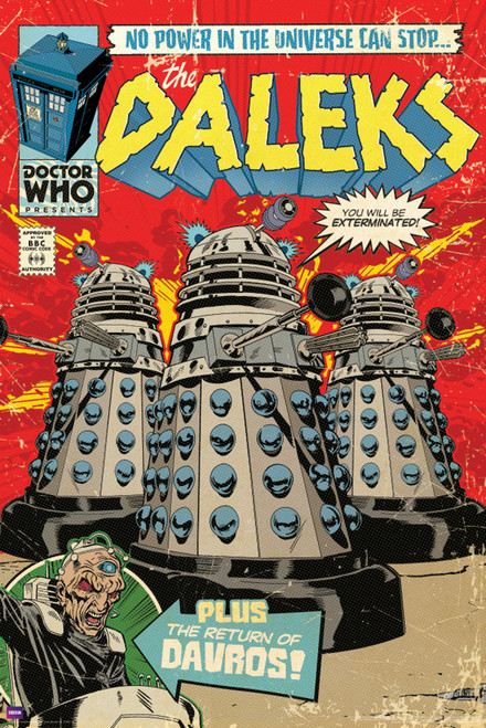 "Daleks Comic Cover Poster 24"" X 36"""