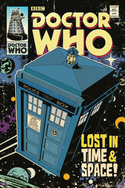 "TARDIS Comic Cover Poster 24"" X 36"""