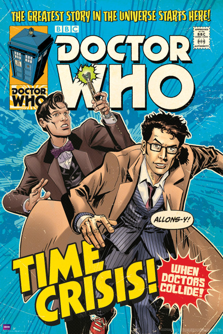 "Doctor Who: TIME CRISIS Comic Art Cover Poster - 24"" X 36"""