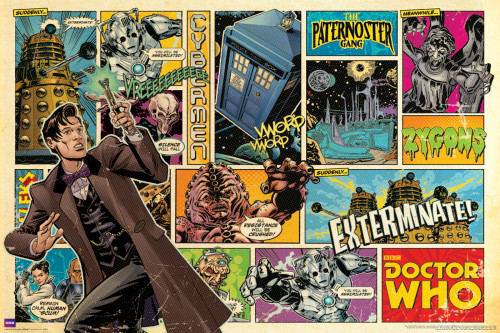 "Doctor Who: Comic Cover Art Poster - 36"" X 24"""