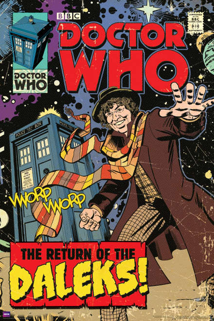 """Doctor Who: RETURN OF THE DALEKS Comic Art Cover Poster - 24"""" x 36"""""""
