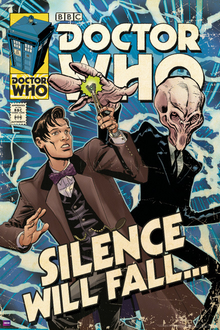 "Doctor Who: SILENCE WILL FALL Comic Cover Art Poster - 24"" X 36"""