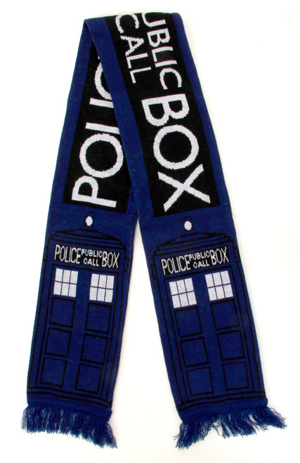 "TARDIS 6"" Heavy Scarf - Police Public Call Box Design"