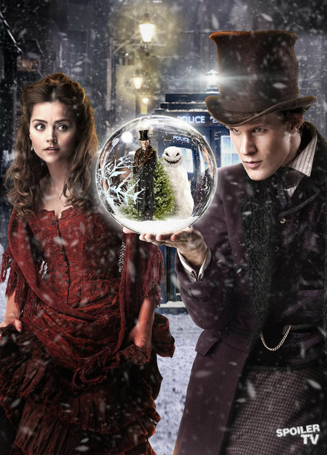 Doctor Who: 17 x 11 Inch Print - 11th Doctor (Matt Smith) and Clara (Jenna Coleman) - from the episode The SNOWMEN