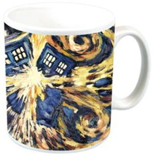 Doctor Who Vincent Van Gogh - EXPLOADING TARDIS - Wrap-A-Round Ceramic Mug