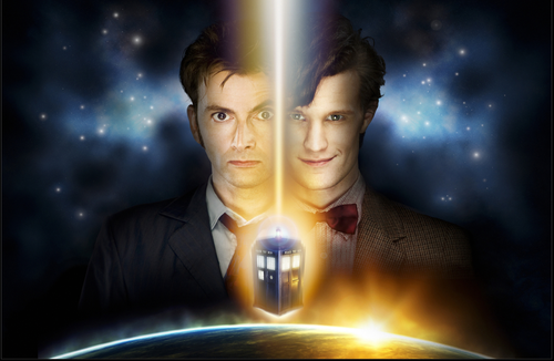 Doctor Who: 17 x 11 Inch Print - 10th (Tennant) and 11th (Smith) Doctors Regeneration