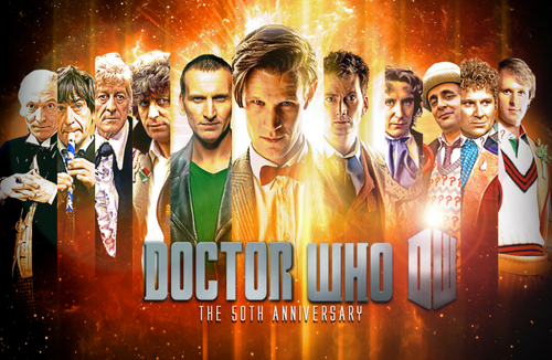 Doctor Who: 17 x 11 Inch Print - 11 Doctors 50th Anniversary Promotional Photo Collage