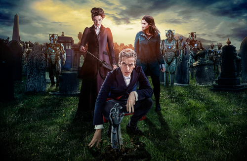 Doctor Who: 17 x 11 Inch Print - 12th Doctor (Peter Capaldi) and The Cybermen - from the episode DEATH IN HEAVEN