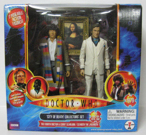 4th Doctor Who Action Figure set - CITY OF DEATH