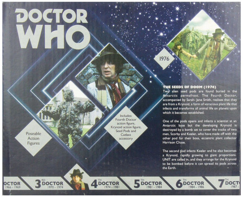 Doctor Who: 4th Doctor Who Action Figure Set - SEEDS OF DOOM