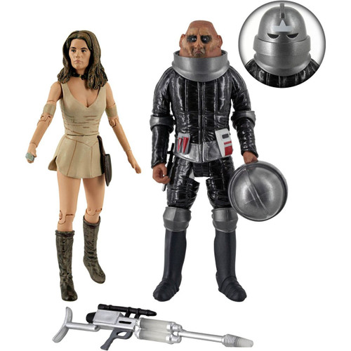 Doctor Who LEELA and COMMANDER STOR - Action Figure Set from 'Invasion of Time'