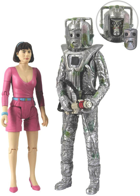 Doctor Who: Peri and Rogue Cyberman - Action Figure Set from Attack of the Cybermen