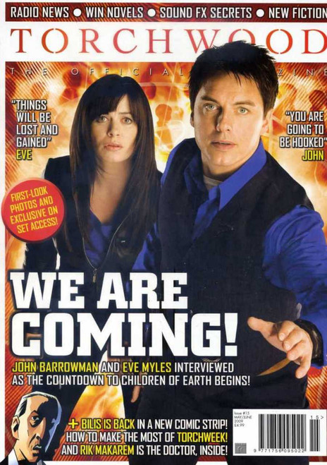 TORCHWOOD Official Magazine Issue #15 (June/July 2009) 100 pages