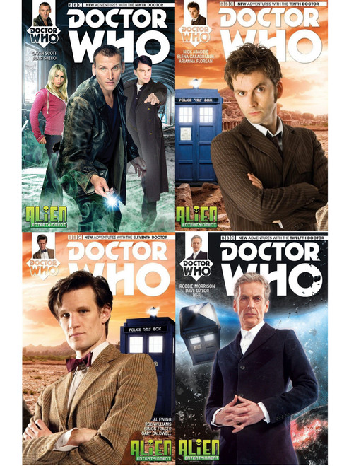 Doctor Who: 9th though 12th Doctor Alien Entertainment Exclusive Comic Book #1 (set of 4)
