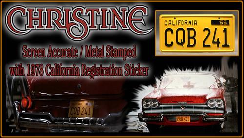 "License Plate - CHRISTINE - ""CQB 241"""