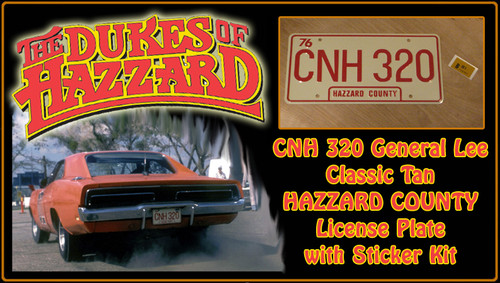 "License Plate - The DUKES of HAZZARD- ""CNH 320"""