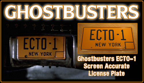 "GHOSTBUSTERS- ""ECTO-1"" - Prop Replica Metal Stamped License Plate"