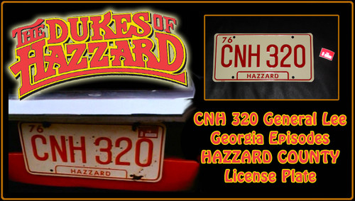 "License Plate - The DUKES of HAZZARD - ""CNH 320"""