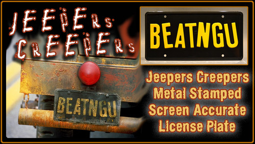 """License Plate - JEEPERS CREEPERS - """"BEATNGU"""""""