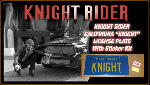 "KNIGHT RIDER (1980s TV Series) - ""KNIGHT"" - Prop Replica Metal Stamped License Plate"