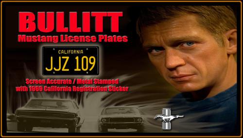 """License Plate - BULLIT - """"JJZ 109"""""""