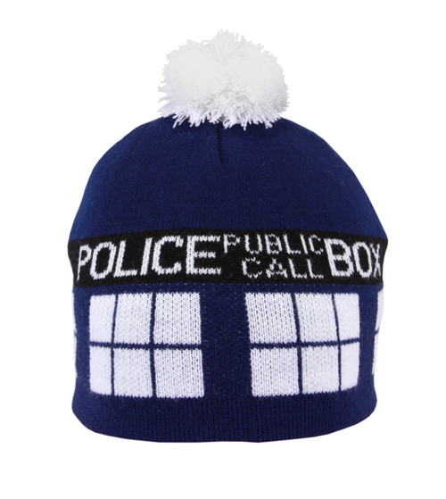 BBC Doctor Who: TARDIS Knit Pom Beanie Hat