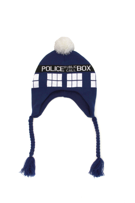 BBC Licensed Doctor Who: TARDIS Knit Laplander Beanie Hat
