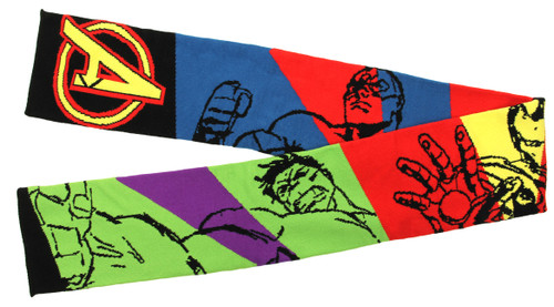 AVENGERS ASSEMBLE 6 foot knit Scarf