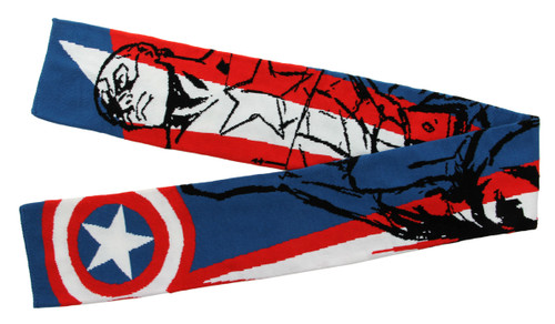 CAPTAIN AMERICA 6 foot knit scarf