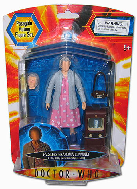 Doctor Who New Series - FACELESS GRANDMA CONNOLLY & THE WIRE - Series 2 Action Figure - Character Options