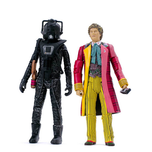 ATTACK OF THE CYBERMEN - 6th Doctor with Stealth Cyberman - Classic Series - Character Options Action Figure Set