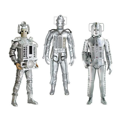 Doctor Who: Classic Series 1960's CYBERMEN Action  Figure Set of 3 - Character Options