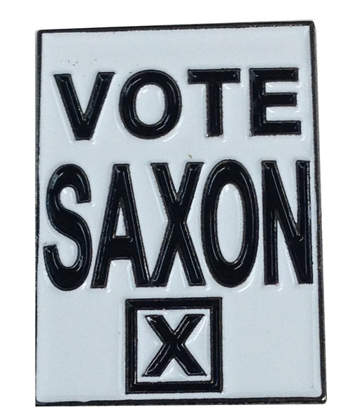 Doctor Who UK Imported Lapel Pin - VOTE SAXON