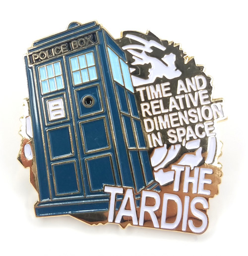 Doctor Who Danbury Mint Imported UK Exclusive TARDIS Lapel Pin