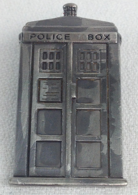 Doctor Who UK Imported Lapel Pin - Pewter Style TARDIS